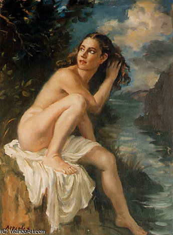 desnudo de Jorge Apperley (George Owen Wynne Apperley) (1884-1960, United Kingdom)
