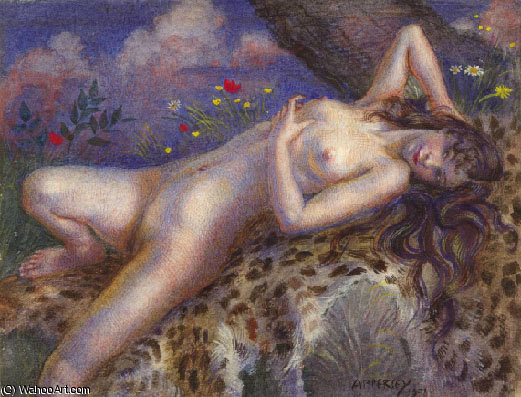 La bacante de Jorge Apperley (George Owen Wynne Apperley) (1884-1960, United Kingdom)