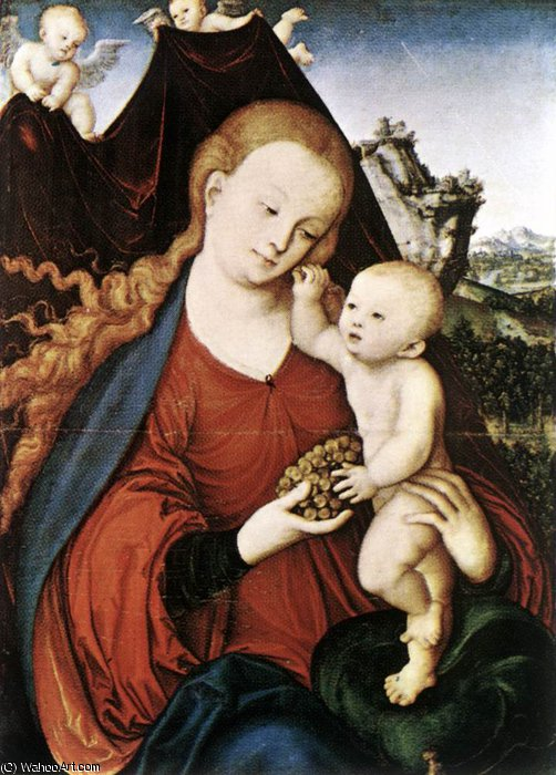 virgen con el niño de Lucas Cranach The Elder (1472-1553, Germany)