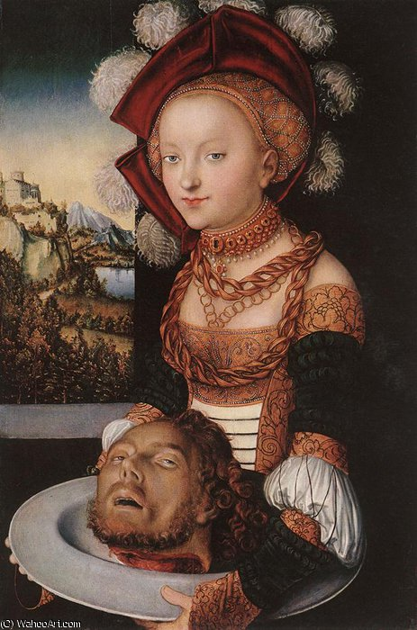 salome, 1530 de Lucas Cranach The Elder (1472-1553, Germany)