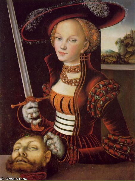 Judith victoriosa - -, 1530 de Lucas Cranach The Elder (1472-1553, Germany)