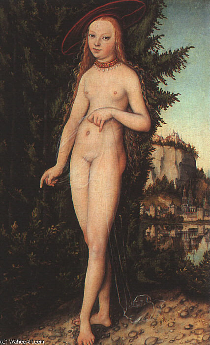 Venus de pie en un paisaje, 1529 de Lucas Cranach The Elder (1472-1553, Germany)