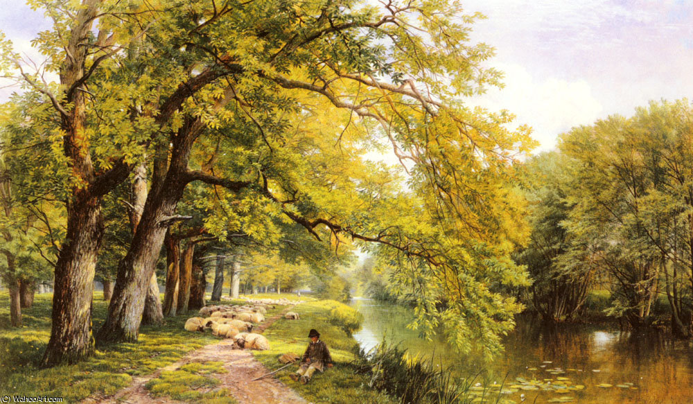 En ockham surrey en verano de Frederick William Hulme (1816-1884, United Kingdom)