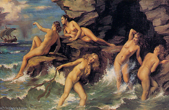 Las Sirenas de Jorge Apperley (George Owen Wynne Apperley) (1884-1960, United Kingdom) | ArtsDot.com