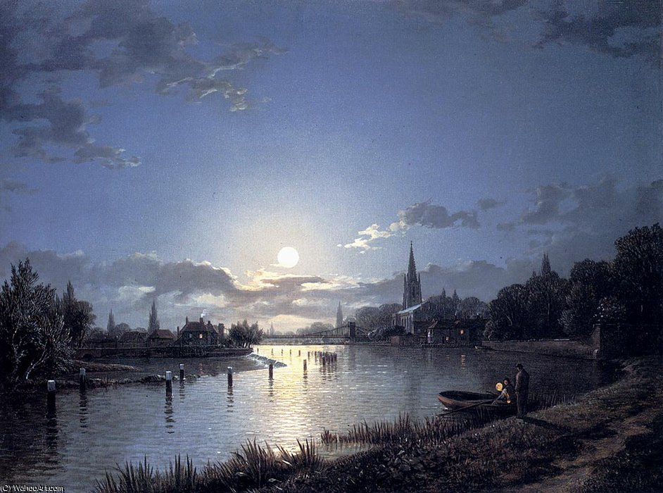 Marlow on Thames de Henry Pether (1828-1865, United Kingdom) | Reproducciones De Calidad Del Museo | ArtsDot.com