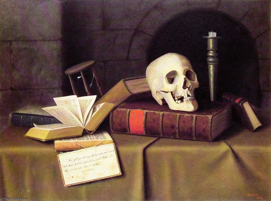 Memento mori de William Michael Harnett (1848-1892, Ireland)
