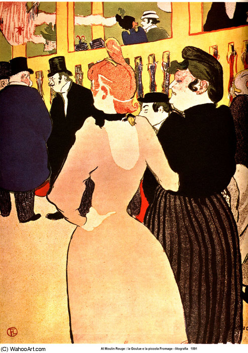 En el Moulin - Rouge, La Goulue con su hermana de Henri De Toulouse Lautrec (1864-1901, France)
