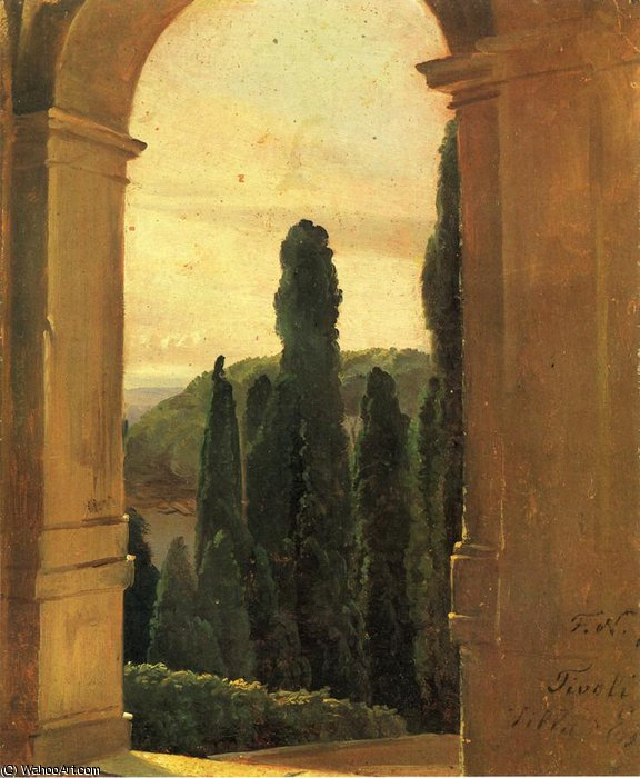 Villa d-Este de Friedrich Nerly (1808-1878, Germany)