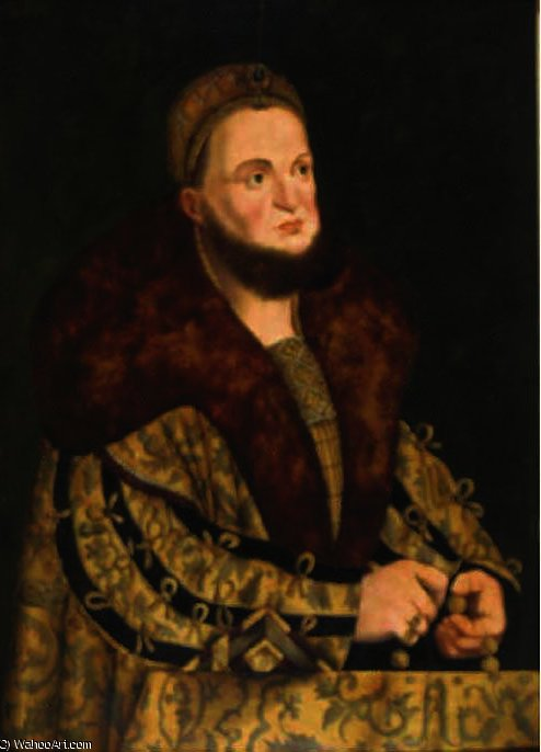 Retrato de la elector frederick iii vol 'the wise' de sajonia de Lucas Cranach The Elder (1472-1553, Germany)