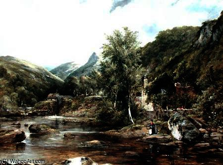 Pandy Mill, Bettys-y-Coed de Frederick Waters (William) Watts (1800-1870, United Kingdom)