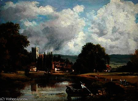 el támesis en mortlake de Frederick Waters (William) Watts (1800-1870, United Kingdom)