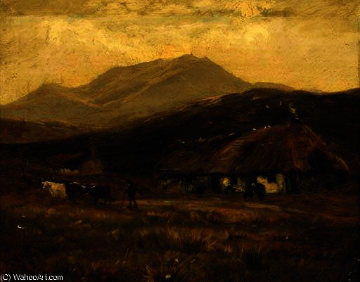 En Kinlochewe de Henry Hadfield Cubley (1858-1934, United Kingdom)