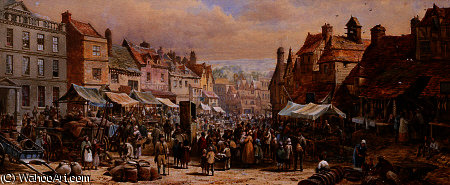 El día de mercado, ashbourne de Louise Rayner (1832-1924, United Kingdom)