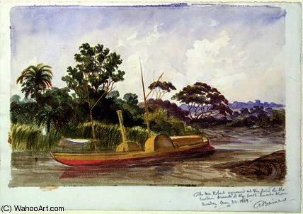 El Ma Robert , barco de Livingstone de Thomas Baines (1820-1875, United Kingdom)