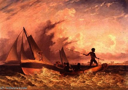 El messenger's bote largo de Thomas Baines (1820-1875, United Kingdom)