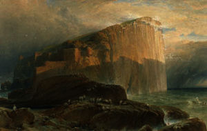 William Leighton Leitch - El bass rock , east lothi..