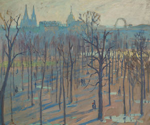 William S Horton - Los jardines Tuilleries