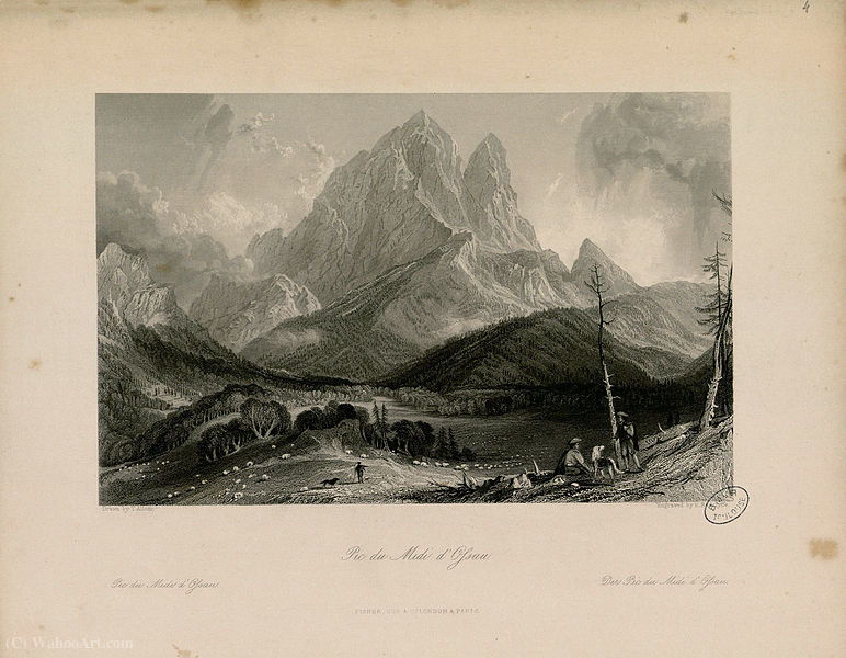 Pic du Midi d Ossau de Thomas Allom (1804-1872, United Kingdom)