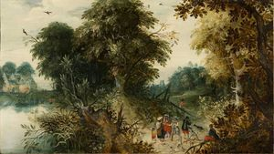Abraham Govaerts - Forest View con viajeros