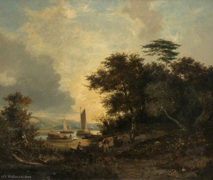 Bramerton, maderas End, cerca de Thorpe, Norfolk de George Vincent (1796-1831, United Kingdom)
