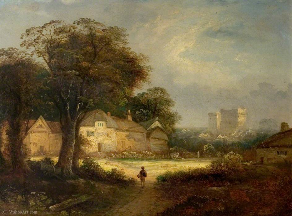Castillo de Ashby, Northamptonshire de George Vincent (1796-1831, United Kingdom)