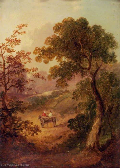 Paisaje con un carro de George Vincent (1796-1831, United Kingdom)