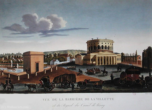 El Barriere de la Villette, c.1815 - (20) de Henri Courvoisier Voisin (1757-1830, France)