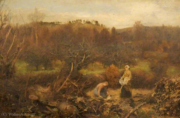 Durante Hedges y Zanjas de John William North (1842-1924, United Kingdom)