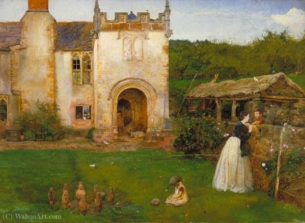 El antiguo campo de bolos de John William North (1842-1924, United Kingdom) | ArtsDot.com