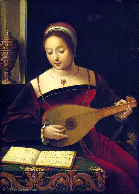 La luthiste de Master Of Female Half Lengths | Reproducciones De Calidad Del Museo | ArtsDot.com