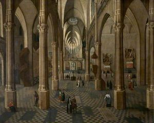 Peeter The Elder Neeffs - Interior de la catedral de Amb..