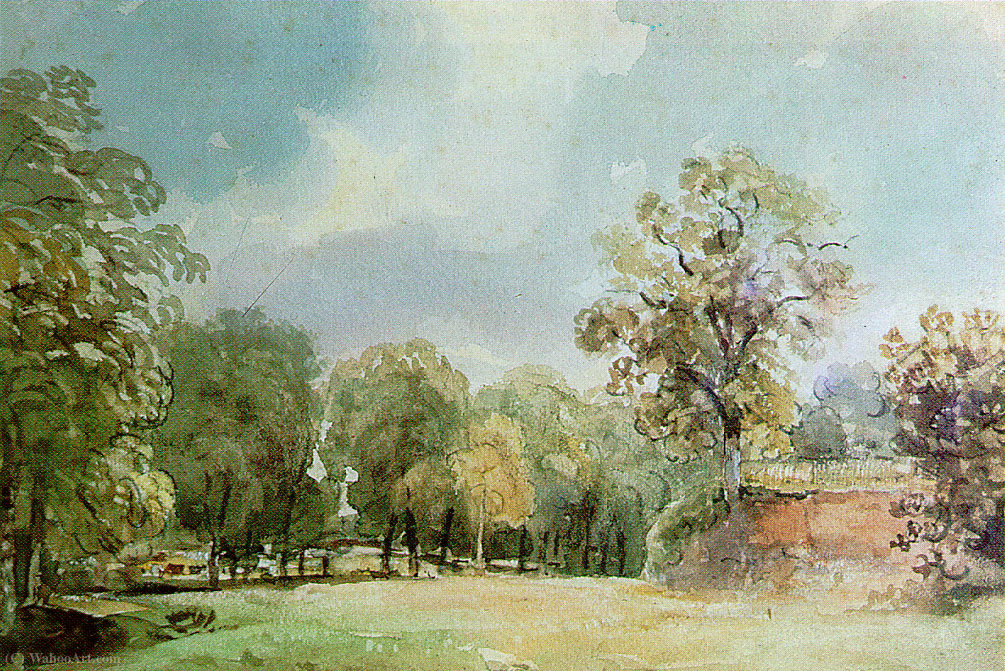 Paisaje pintura de haugh Carril de Thomas Churchyard (1737-1823, United Kingdom)