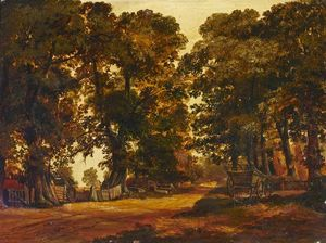 Thomas Colman Dibdin - Escena rural en Heston