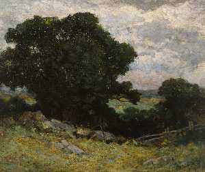 Edward Mitchell Bannister - paisaje del