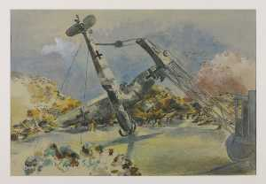 Paul Nash - el messerschmidt en windsor gran parque