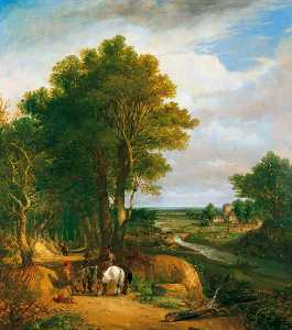 Frederick Waters (William) Watts - paisaje del