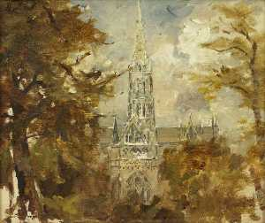 Francis Abel William Tayl.. - Un Catedral Visto entre l..