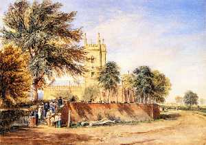 David Cox The Elder - Handsworth iglesia vieja , De birmingham