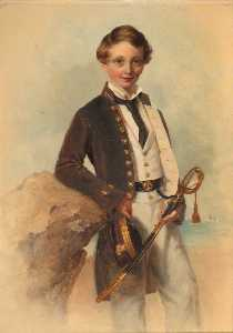 John Godwin Williams - Retrato de un Naval Cadet..