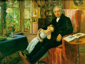 John Everett Millais - James Wyatt y su nieta María