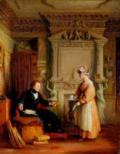 William Mulready The Younger - Interior con john sheepshanks ( 1787–1863 )