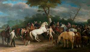 John E Ferneley I - melton mowbray caballo feria